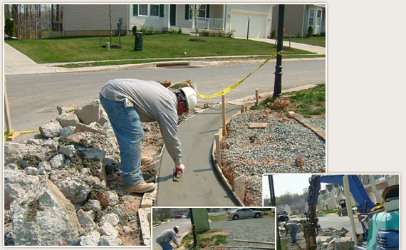 Curb and Gutter work